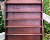 Vintage Wall Shelf Spice Rack Wooden Repurpose Ready