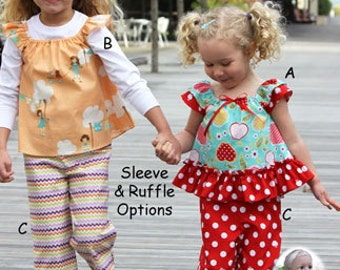 Cutie Pie Pattern - Tops Pants & Doll Outfit by Olive Ann Designs