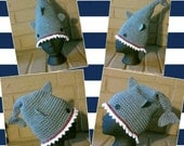 Shark Beanie, Shark Bite Hat, Shark Attack Slouchy Tam, Great White Shark Cap, Shark Winter Hat, Shark Week Beanie, Sharks Hat, Killer Shark