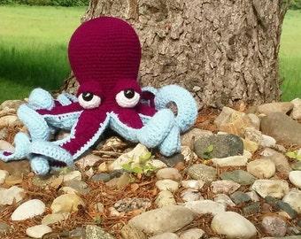 Octopus, Octopus Plushie, Kawaii Octopus Stuffed Animal, Kraken Plush Doll, Octopus Amigurumi, Octopus Sea Creature, On Sale