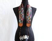 scarf camera strap budding beauty - BCSCS007