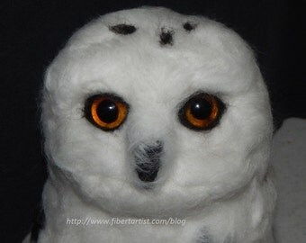 Arctic Snowy Owl-needle felted soft sculpture
