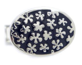 Black flower Cufflinks