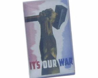 It's Our War Nostalgic Wartime Poster Cufflinks