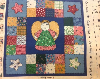 Little Quilt Cotton Fabric Panel and 1/2 yard coordinating Fabric