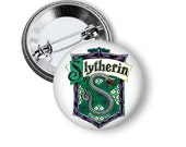 """Slytherin House Crest Harry Potter Inspired 1"""" Pinback Button"""