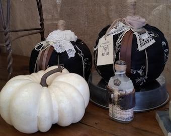 Handmade Pumpkin, OOAK, Shabby Chic, French Country, Boho