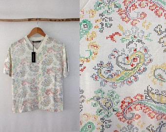 Norsea Industries Printed Paisley T shirt Size M