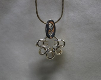 custom crafted sterling silver pendant