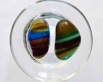 English Sea glass - Large Multi Duo - Lot DC776