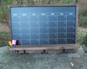 Large Chalkboard Calendar/ Message Board/Office Decor/Kitchen Decor/Family organizer