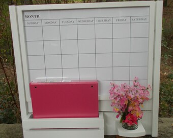Large Magnetic Calendar Board/Kitchen Decor/Family message Center/Magazine /Mail Holder