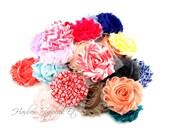 Shabby Rose Trim 2-1/2 inch GRAB BAG, Shabby Flowers, Shabby Flower Headband, Shabby Flowers Wholesale, Shabby Flowers Wholesale, Chiffon