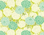 Heather Bailey - Up Parasol - Mum Toss in Chartreuse - cotton quilting fabric BTY