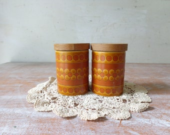 Vintage Hornsea Saffron Salt and Pepper Shakers
