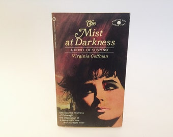 Vintage Gothic Romance Book The Mist At Darkness by Virginia Coffman 1968 Paperback
