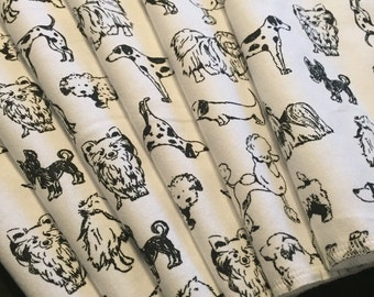 Cloth Napkins, Reusable Napkins, Eco Friendly Napkins, Pack Of 6 Napkins, Dog Napkins, Cloth Wipes