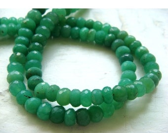 50% ON SALE Chrysoprase Rondelle Beads/ Faceted Beads/ 6mm Faceted Beads - Half Strand 9 Inches