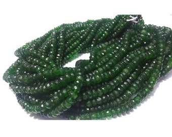 55% ON SALE Green Tourmaline Beads, Faceted Rondelle Beads, Faceted Green Tourmaline, 4mm To 6mm Beads, 8 Inch Half Strand,100 Pieces