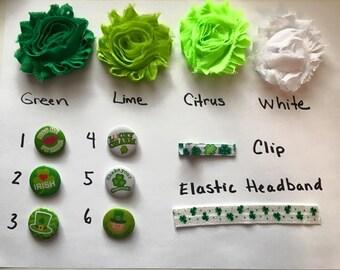 St. Partick's Day Irish Green Headband or Clip