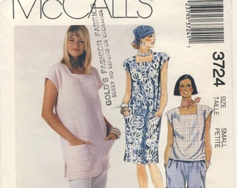 McCall's 3724 Misses Dress, Tunic, Top, Pants and Shorts Size Small ( 10 - 12 )
