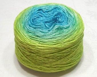 Siberian pearl 8/2 - Gradient yarn silk yarn mulberry silk yarn fingering yarn handdyed yarn 97-101g (3.4-3.6oz) - Spring breeze