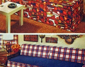 Vintage Slipcover Pattern Simplicity 5552 UNCUT For Twin Bed Studio Couch or Day Bed Different Widths and Lengths Included