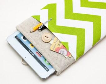 White Linen Kobo Aura Case. Sleeve for Kobo Mini. Cover for Kobo Touch, Kobo Glo, Kobo Glo HD, Kobo Aura HD.