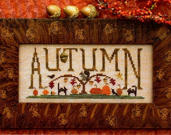 Scenes Of Autumn~Cross Stitch Pattern Only