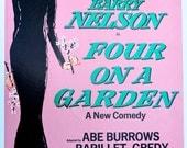 K. Adler Carol Channing Four on a Garden Print, Signed Broadway Poster