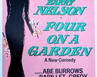 K. Adler Carol Channing Four on a Garden Print, Signed Broadway Poster