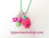 Shopkin Charm Necklace Asbury Raspberry Season 3