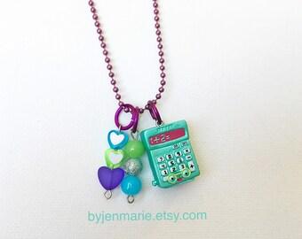 Shopkin Charm Necklace Green Kelly Calculator Season 3