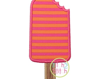 """Popsicle Bite Applique Design shown in our """"Starstruck"""" Font NOT Included, In Hoop Sizes 4x4,  5x7, and 6x10 INSTANT DOWNLOAD now available"""