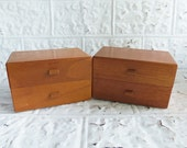 Vintage Wood Cigar Box Drawers