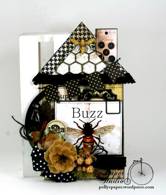 Buzz Bee House Tag Handcrafted Home Decor