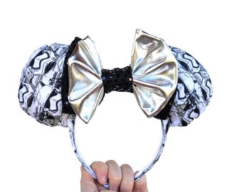 Star Wars Storm Trooper Print Mickey Mouse Ears Minnie Mouse Ears
