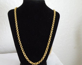 """Givenchy gold plated chain necklace. 37"""""""