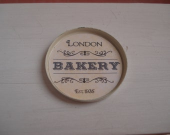 Miniature bakery round tray