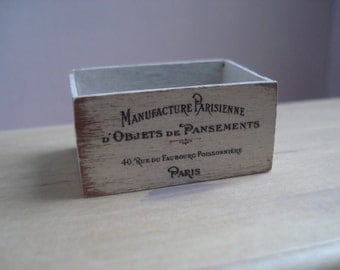 Miniature shabby wooden crate