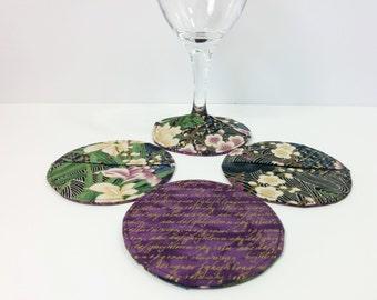 Coasters, Slipper Coasters, Stemware Slipper Coaster Set of 4