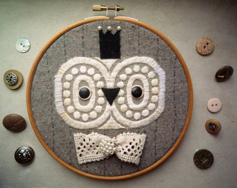 Owl Prince hoop art  -  art  owl creature  by Wassupbrothers