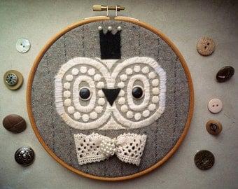 Owl Prince hoop art  -  art  owl creature  by Wassupbrothers