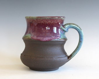 Coffee Mug, 16 oz, handthrown ceramic mug, stoneware pottery mug, unique coffee mug
