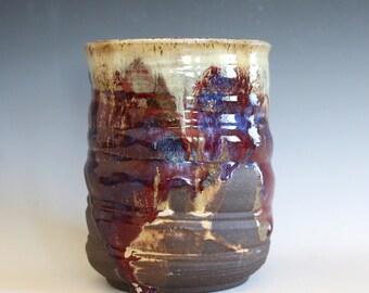 Ceramic Vase, Utensil Holder, Pottery Vase, Utensil Crock, Ceramics and Pottery