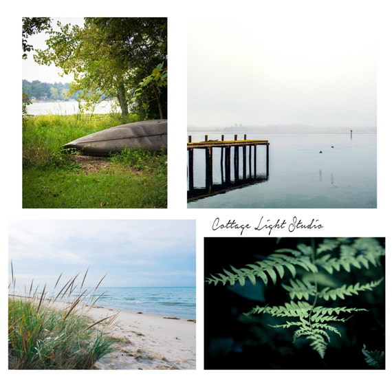 Landscape,Set, Coastal, 4 Individual Prints, Two 8x10's, One 11x14, and One 12x12 print, Fine Art Photography, Cottage Light Studio, Prints