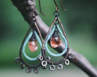 Madras Teardrop Earrings