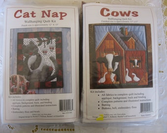 Cat and Cow Quilt Kits