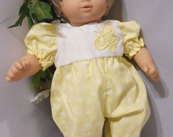 Bitty Baby Pale Yellow Romper Bunting Set