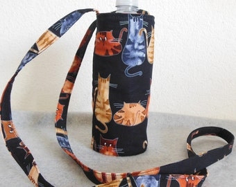 Insulated Water Bottle Carrier - Kitties